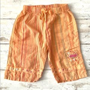 Girls 18-24m Toddler Flowy Pants Orange Stripe